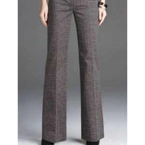 Express Editor Herringbone Brown Pants 0